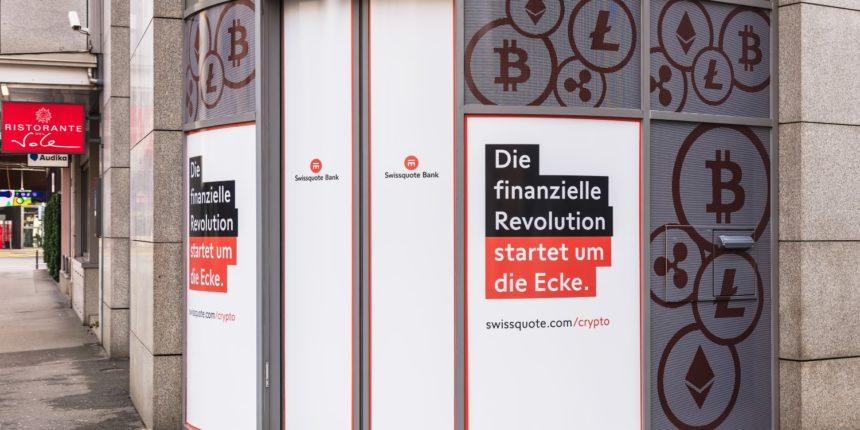 Šveices Swissquote centralizētā bankā varēs glabātā KriptoMonētas